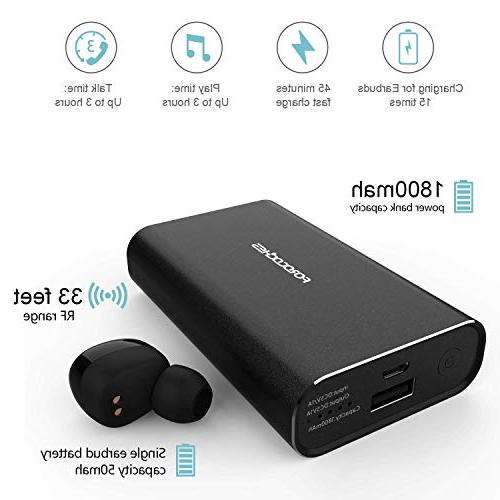 Wireless Earbuds,Forocoches Bluetooth Bass Cancelling Headphones,45H Sports with