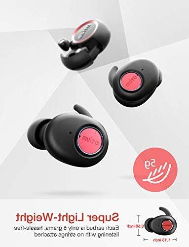 True Earbuds, Soar Headphones with Case/Built-in Mic/Deep Sound/Sweat and Relaxation