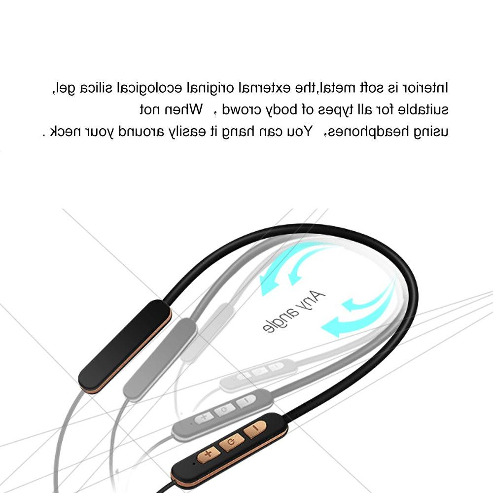Wireless Stereo HeadsetUSB <font><b>Earbuds</b></font> For Sports&workout Headset Voice Prompt