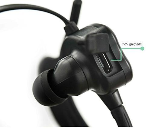 Wireless - Portable with Mic Adjustable of ARC - IPX8 High Waterproof Sports Earphones
