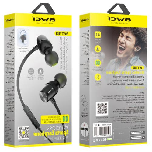wt30 magnetic sports wireless bluetooth headset in