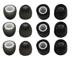 3 Pair Memory Foam & 3 Pair Silicone Rubber Replacement Earb
