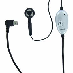 Cellet Mini USB Mono Earbud Headset + Mic + On/Off Button fo