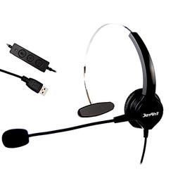 TRIPROC Monaural USB VoIP Headset for Computer Internet Call