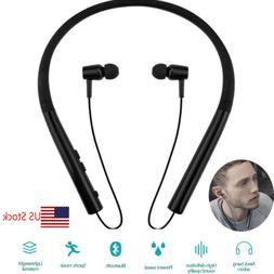 Neckband Bluetooth Earpiece Wireless Earbuds Headset For iPh