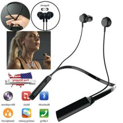 Neckband Bluetooth Headset Headphones Earbuds with Mic For L
