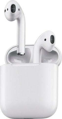 New Apple AirPods White MMEF2AM/A In Ear Bluetooth Headset A