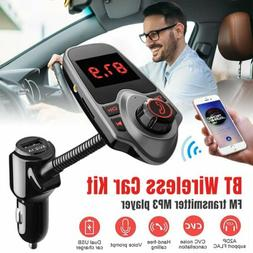 Car Cigar Plug Bluetooth FM Transmitter Radio Player Adapter