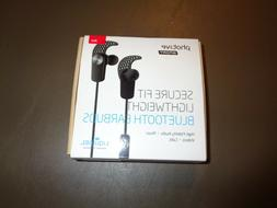 Red Photive Sport Secure Fit Lightweight Bluetooth Earbuds H