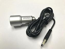 OMNIHIL Replacement 2-Port USB Car Charger+ MICRO-USB for Tr