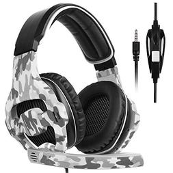 SADES SA810 Gaming Headset for PS4, PC, Xbox One Controller,