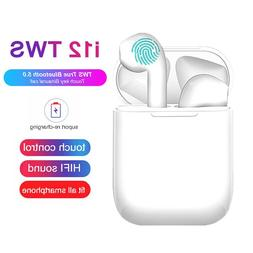 TWS <font><b>Wireless</b></font> Earphones i12 Touch Control