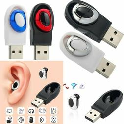 USB Mini Wireless Bluetooth Earbuds In-Ear Stereo Earphones