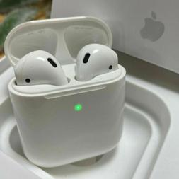 White AirPods 2nd Generation with Wireless Charging Case Ear