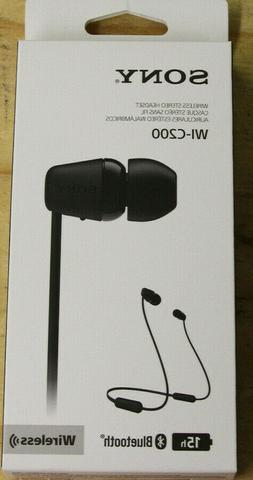 Sony WI-C200 BlueTooth Earbuds - 15Hr - New!!!