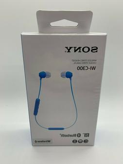 Sony WI-C300 Wireless In-Ear Headphones, Blue