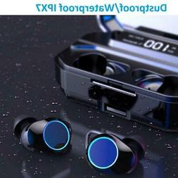 wireless TWS bluetooth 5.0 earbuds waterproof with LED displ