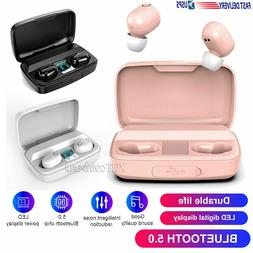 wireless bluetooth 5 0 earphone earbuds sports