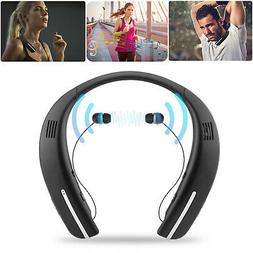 Wireless Bluetooth Headset Dual-Speaker Earphones Earbuds Sp