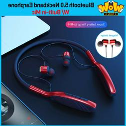 Wireless Bluetooth Neckband Earphone Earbuds Headset+Mic For