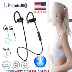 Wireless Bluetooth Sport Earphones Stereo Headphones Sweatpr