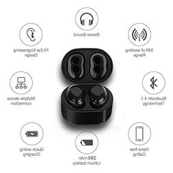 Indigi BT-BK-TWSx-6-07 Bluetooth Headset for Universal Smart