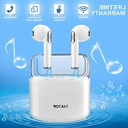 Wireless Earbuds Stereo Bluetooth Headphones with Charging C